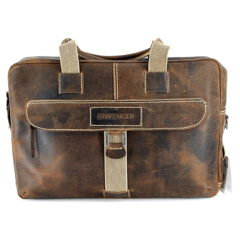 Портфель на молнии Wenger Brown Arizona W23-10, коричневый